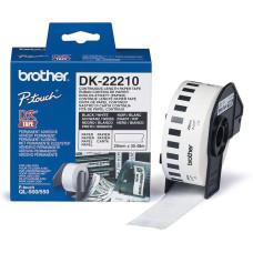 Самоклеящаяся непрерывная бумажная лента Brother белая (шир. 29 мм) [DK22210]