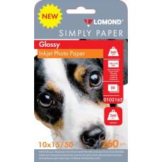 Бумага Lomond 0102165 (10x15, 260г/м2, для струйной печати, односторонняя, глянцевая, 50л) [0102165]