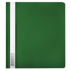 Папка-скоросшиватель Бюрократ Люкс -PSL20A5GRN (A5, прозрачный верхний лист, пластик, зеленый) [PSL20A5GRN]