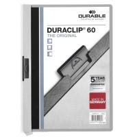 Папка с клипом Durable Duraclip 220910 (верхний лист прозрачный, A4, вместимость 1-60 листов, серый) [220910]