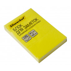 Блок самоклеящийся Silwerhof 682160-05 (желтый, 51x76) [682160-05]