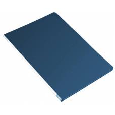Папка с зажимом Бюрократ -PZ05PBLUE (зажимов 1, A4, пластик, толщина пластика 0,5мм, торцевая наклейка, синий) [PZ05PBLUE]