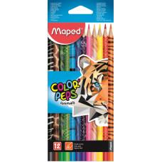 Карандаши цветные Maped 832212 (12 цветов, коробка картонная) [832212]