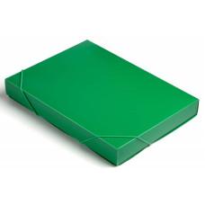 Папка-короб Бюрократ -BA40/07GRN (A4, пластик, толщина пластика 0,7мм, на резинке, ширина корешка 40мм, зеленый) [BA40/07GRN]