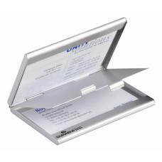 Визитница Durable (55х90 мм, алюминий, серебристый, 20визиток) [243323]