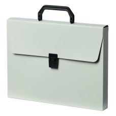Портфель Бюрократ DeLuxe DLPP01MILK (A4, отделений 1, пластик, толщина пластика 0,7мм, молочный) [DLPP01MILK]