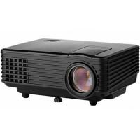 Проектор Hiper Cinema A1 Black (800x480, 1500лм, HDMI, VGA, композитный, аудио mini jack) [HPC-A1B]