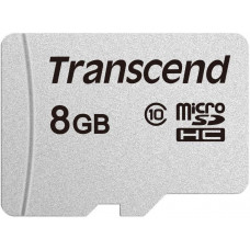 Карта памяти microSDHC 8Гб Transcend (Class 10, 20Мб/с, UHS-I, без адаптера) [TS8GUSD300S]