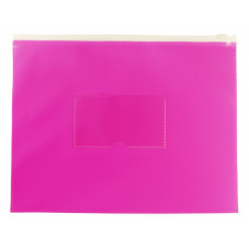 Папка на молнии ZIP Бюрократ Double Neon DNEBPM5APINK (A5, полипропилен, толщина пластика 0,15мм, молния белый) [DNEBPM5APINK]