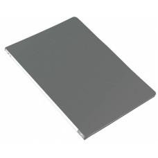 Папка с зажимом Бюрократ -PZ05PGREY (зажимов 1, A4, пластик, толщина пластика 0,5мм, торцевая наклейка, серый) [PZ05PGREY]