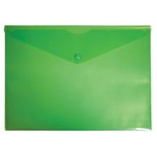 Конверт на кнопке Бюрократ -PK804A5GRN (A5, пластик, толщина пластика 0,18мм, зеленый) [PK804A5GRN]