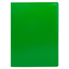 Папка на кольцах Buro ECB0420/2RGREEN (количество колец 2, форма колец О-образные, A4, пластик, толщина пластика 0,5мм, зеленый) [ECB0420/2RGREEN]