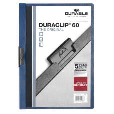 Папка с клипом Durable Duraclip 2209-07 (верхний лист прозрачный, A4, вместимость 1-60 листов, темно-синий) [2209-07]