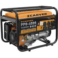 Электрогенератор Carver PPG-6500 (пуск ручной, 5,5/5кВт, 220В) [01.020.00018]