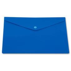 Конверт на кнопке Бюрократ -PK804A5NBLU (A5, пластик, непрозрачный, толщина пластика 0,18мм, синий) [PK804A5NBLU]