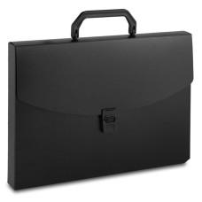 Портфель Бюрократ -BPP01BLCK (A4, отделений 1, пластик, толщина пластика 0,7мм, черный) [BPP01BLCK]
