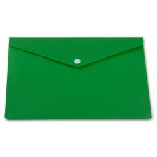 Конверт на кнопке Бюрократ PK804A5NGRN (A5, пластик, непрозрачный, толщина пластика 0,18мм, зеленый) [PK804A5NGRN]