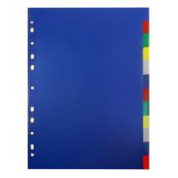 Разделитель индексный Бюрократ ID116E (A4, пластик, кол-во индексов 12, цветные) [ID116E]