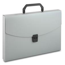 Портфель Бюрократ -BPP01GREY (A4, отделений 1, пластик, толщина пластика 0,7мм, серый) [BPP01GREY]