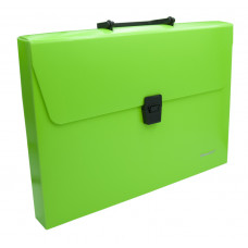 Портфель Silwerhof 322715-01 (A4, отделений 1, пластик, зеленый неон) [322715-01]