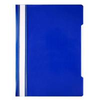 Папка-скоросшиватель Бюрократ Economy -PSE20BLUE (A4, прозрачный верхний лист, пластик, синий) [PSE20BLUE]