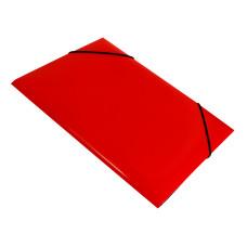 Папка на резинке Бюрократ DeLuxe DL510RED (A4, пластик, толщина пластика 0,7мм, ширина корешка 30мм, красный) [DL510RED]