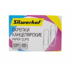 Скрепки Silwerhof 491029 (металл, оцинкованные, 100шт) [491029]
