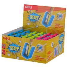 Точилка для карандашей Deli ER00100 (ручная, пластик, отверcтий 1) [ER00100]