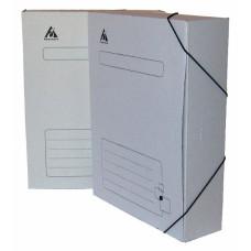 Папка архивная Бюрократ KPA-75Rwt (75мм, микрогофрокартон, на резинке) [KPA-75RWT]