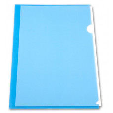 Папка-уголок Бюрократ EE310/1BLU (A4, пластик, толщина пластика 0,15мм, синий) [EE310/1BLU]