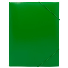 Папка на резинке Buro PRB04GREEN (A4, пластик, толщина пластика 0,5мм, ширина корешка 15мм, зеленый) [PRB04GREEN]