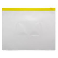 Папка на молнии ZIP Бюрократ BPM5AYEL (A5, полипропилен, толщина пластика 0,15мм, молния желтый) [BPM5AYEL]