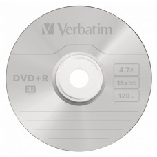 Диск DVD+R Verbatim (4.7Гб, 16x, cake box, 25) [43500]