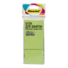 Блок самоклеящийся Silwerhof 682154-06 (зеленый, 38x51) [682154-06]