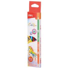 Карандаши цветные Deli EC00500 (липа, 12 цветов, упаковка 6шт, коробка европодвес) [EC00500]