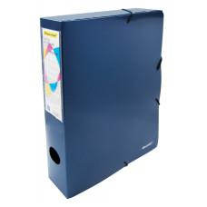 Папка архивная Silwerhof 311917-74 (A4, полипропилен, толщина пластика 0,8мм, на резинке, ширина корешка 55мм, синий металлик) [311917-74]