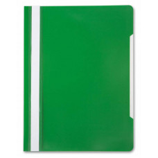 Папка-скоросшиватель Бюрократ -PS20GRN (A4, прозрачный верхний лист, пластик, зеленый) [PS20GRN]