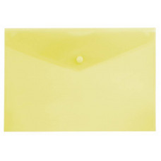 Конверт на кнопке Бюрократ -PK804A5YEL (A5, пластик, толщина пластика 0,18мм, желтый) [PK804A5YEL]