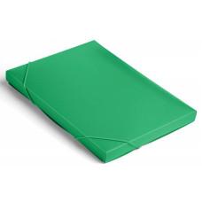 Папка-короб Бюрократ BA25/05grn (A4, пластик, толщина пластика 0,5мм, на резинке, ширина корешка 25мм, зеленый) [BA25/05GRN]