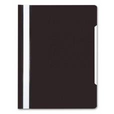 Папка-скоросшиватель Бюрократ -PS20BLCK (A4, прозрачный верхний лист, пластик, черный) [PS20BLCK]