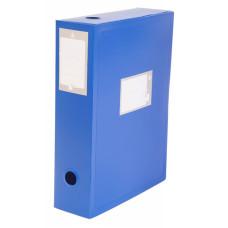 Короб архивный Бюрократ BA80 (80мм, пластик, вырубная застежка) [BA80/08BLUE]