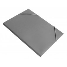 Папка на резинке Бюрократ PR05grey (A4, пластик, толщина пластика 0,5мм, ширина корешка 30мм, серый) [PR05grey]