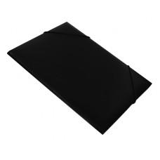 Папка на резинке Бюрократ -PR05BLCK (A4, пластик, толщина пластика 0,5мм, ширина корешка 30мм, черный) [PR05BLCK]