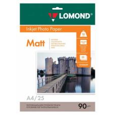 Фотобумага Lomond 0102029 (A4, 90г/м2, для струйной печати, односторонняя, матовая, 25л) [0102029]