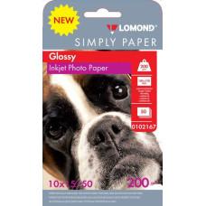 Бумага Lomond 0102167 (10x15, 200г/м2, для струйной печати, односторонняя, глянцевая, 50л) [0102167]