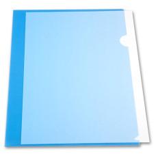 Папка-уголок Бюрократ -E310/1BLU (A4, пластик, толщина пластика 0,18мм, синий) [E310/1BLU]