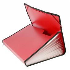 Портфель Бюрократ -BPR13LRED (13 отделений, A4, пластик, с окантовкой, 0,7мм, красный) [BPR13LRED]