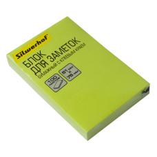 Блок самоклеящийся Silwerhof 682160-06 (зеленый, 51x76) [682160-06]