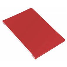 Папка с зажимом Бюрократ -PZ05CRED (зажимов 1, A4, пластик, толщина пластика 0,5мм, торцевая наклейка, красный) [PZ05CRED]