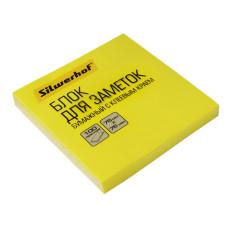 Блок самоклеящийся Silwerhof 682161-05 (желтый, 76x76) [682161-05]